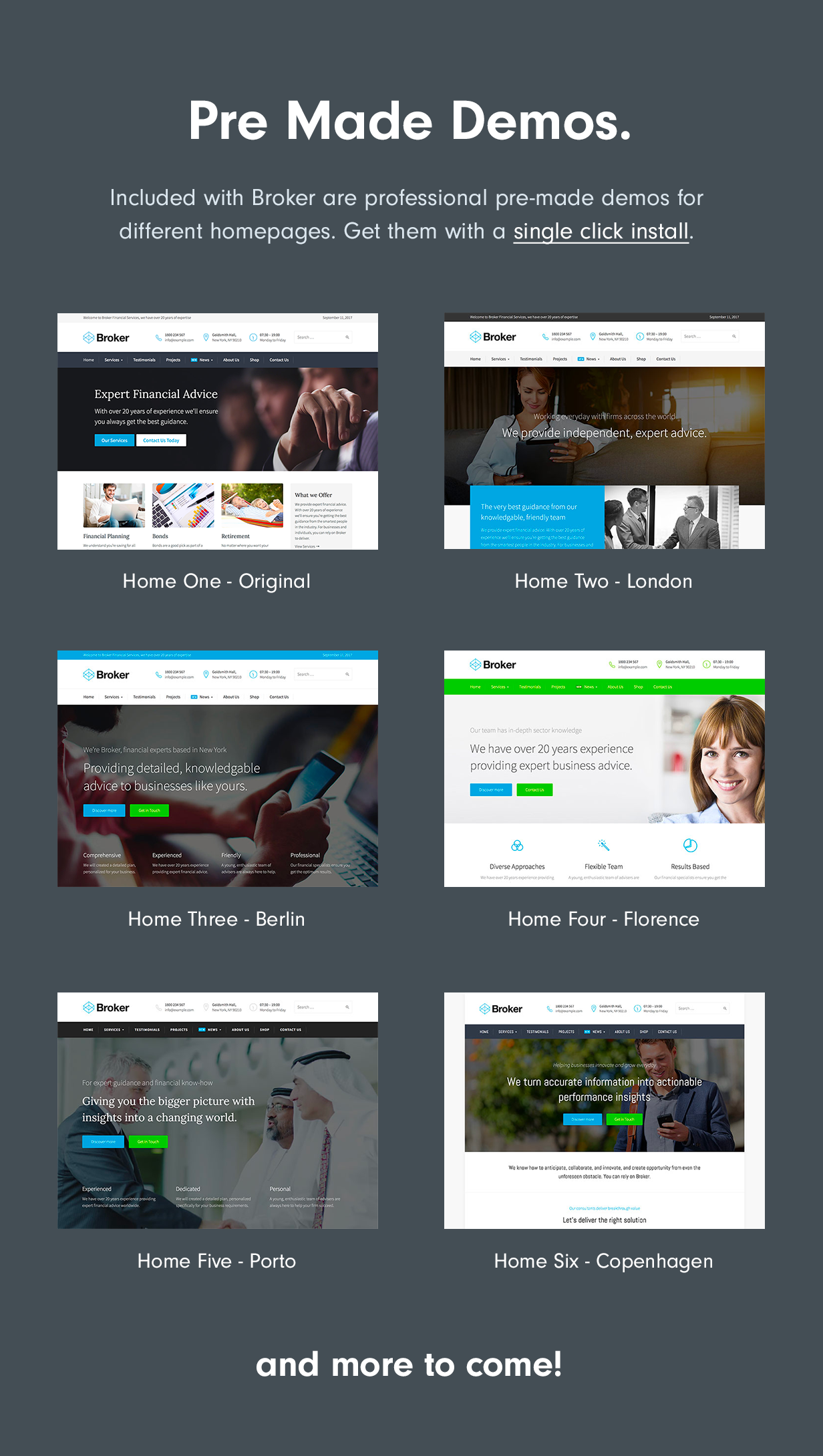 Demos Broker – Business and Finance WordPress Theme Nulled Free Download demos