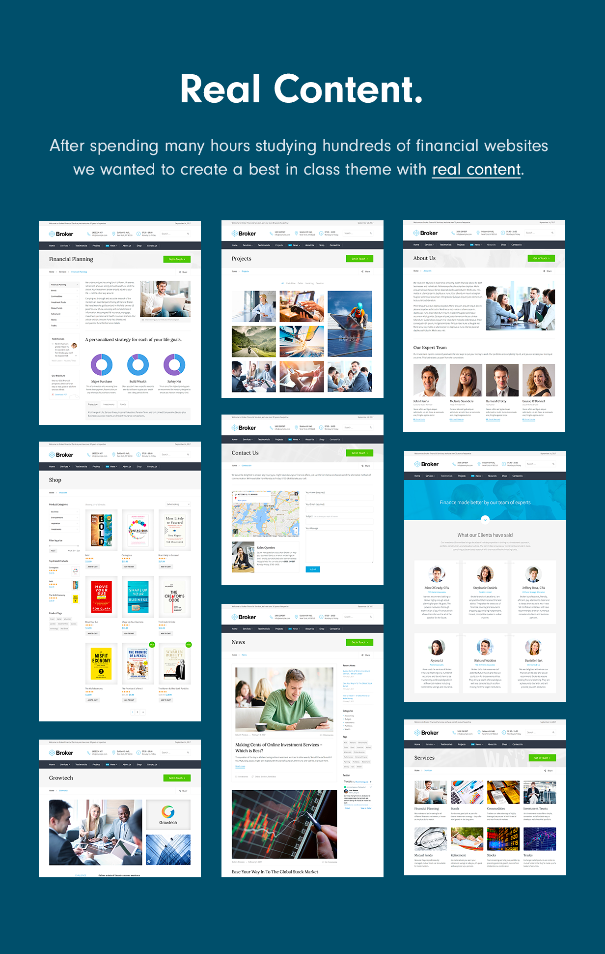 Real Content Broker – Business and Finance WordPress Theme Nulled Free Download real content