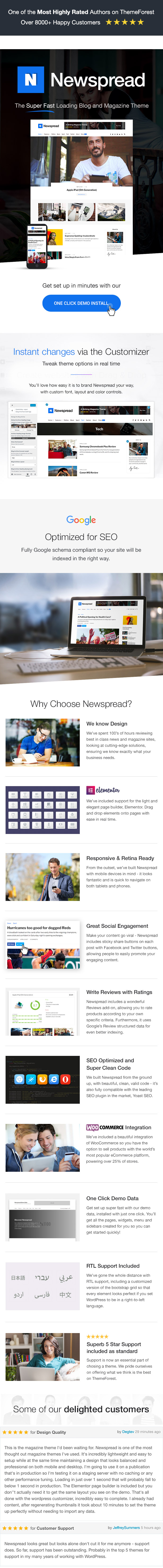 Newspread features